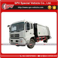 Dongfeng 5 ton dustbin lift type garbage compactor truck