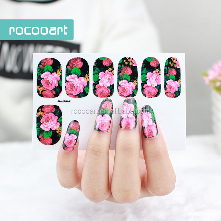 Y5218/New 2015 Flowers <strong>Designs</strong> Self-adhesive - Wholesale Nail Design Strips - Online Buy Best Nail Design Strips