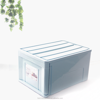 Taizhou Hengming PP wholesale household square shape plastic 56L medium size stackable drawer storage boxes & bins