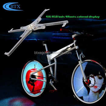Cool innovative products led bike wheel 416 lights Bicycle Accessories led bike light