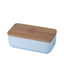 ceramic bento lunch box <strong>containers</strong> bowl butter dish with bamboo lid