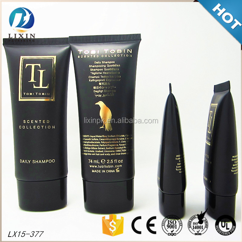 hot products empty plastic cosmetic packaging black shampoo bottle