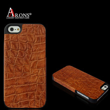 wholesale colorful cow leather with alligator texture phone shell cover case for iphone 5s