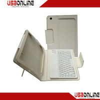 NEW Wireless Bluetooth Keyboard Leather Case For Mini ipad White