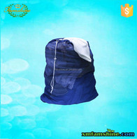wholesale cheap drawstring mesh dirty laundry bag
