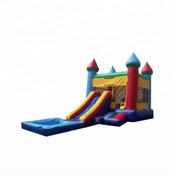0.55mm PVC inflatable bouncer with pool for outdoor parks
