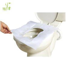 Disposable waterproof paper toilet seat cover for travel