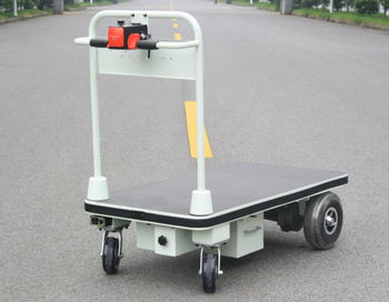 Electric hand cart trolley with big wheels for for Motorized hand truck dolly