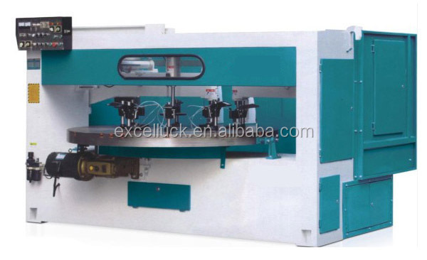 Double spindles automatic wood copy shaper machine