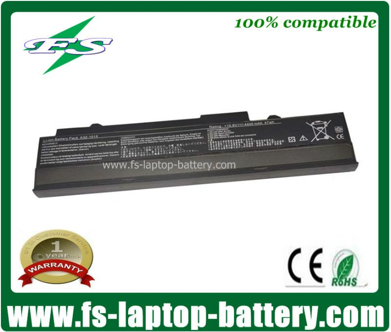 10.8v 5200mAh laptop battery replacement for Asus Eee PC A32-1015 1015P