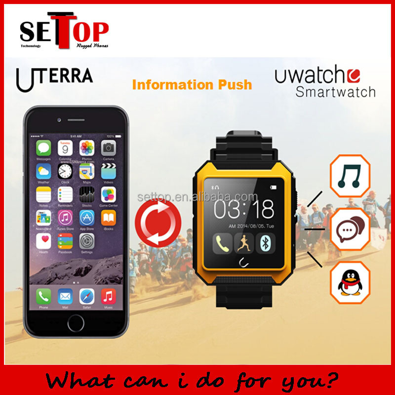 Android talking watch waterproof android gps smart watch with 1 54 inch screen dual cor U Terra