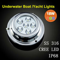 6w 9w 18w 27w, Blue or White,red,yellow,green Underwater Boat Light,Wake board lamp