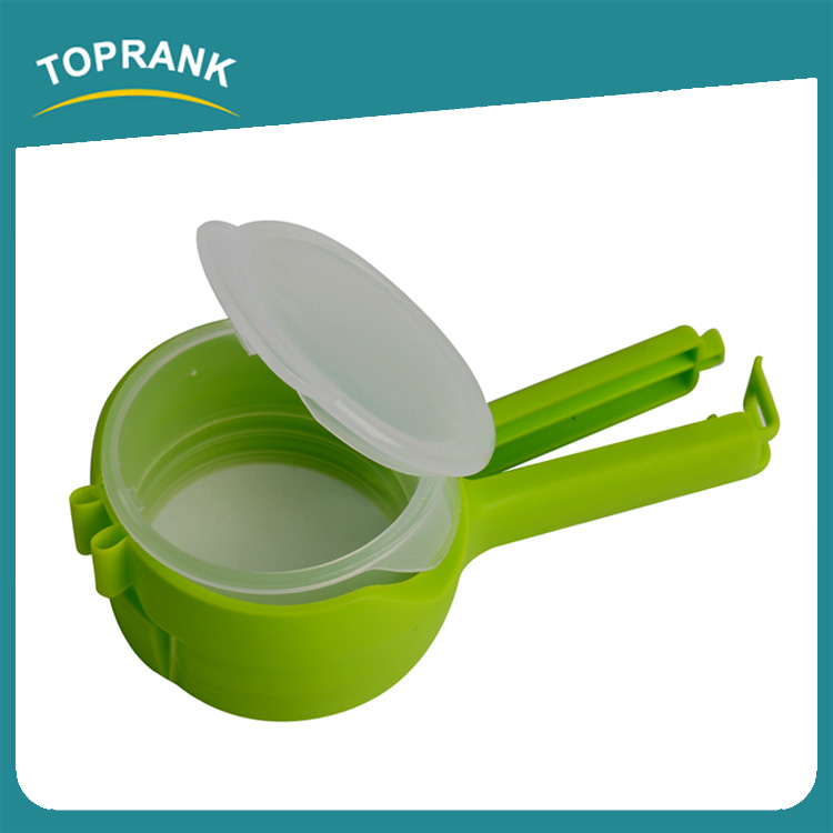 Toprank Kitchenware Colorful Airtight Food Bread Plastic Bag Closure Clip Food Bag Seal Clip Snack Clip With Pour Spout