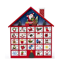 Cardboard Christmas Advent Calendar Box With Drawers
