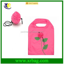 Wholesale stock various colors available eco foldable shopping bag in rose flower shaped