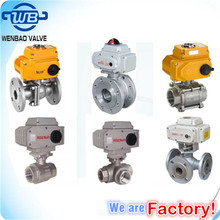 Electric /Motorized actuated ball valve/Two way /Three way ball valves