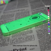 0.3mm ultra slim Matt Soft TPU Case for iphone5