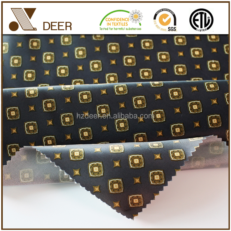 Cheap Woven Polyester 270T Satin Printed Lining Fabric For Suit PS01