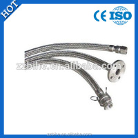 stainless steel flexible metal hose with wire braid used for pump connection