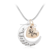 Wholesale Cheap Heart Disc Necklace for Mother's Day/Golden color Mothers day necklace