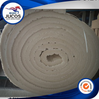 High flexibility and resilience fiber blanket for furnace linings