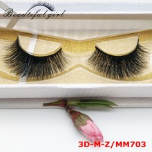 private label fluffy charming 3D mink false eyelashes