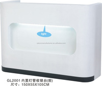 2015 Hot Sale European White Cashier Counter With Lights(GL2001)