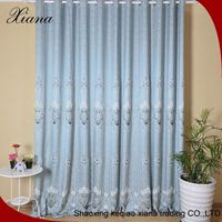 New design fancy chain embroidery blockout curtain woven