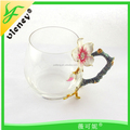 nice glass cup for gift / luxury tea cup for enjoy life / factory direct sale glass cup
