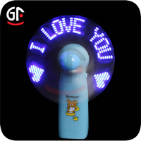 Party Decoration Novelty Toy Small Idea Plastics led Message Fan