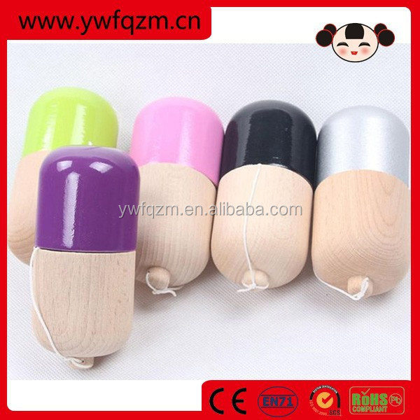 factory direct wooden toy kendama pill