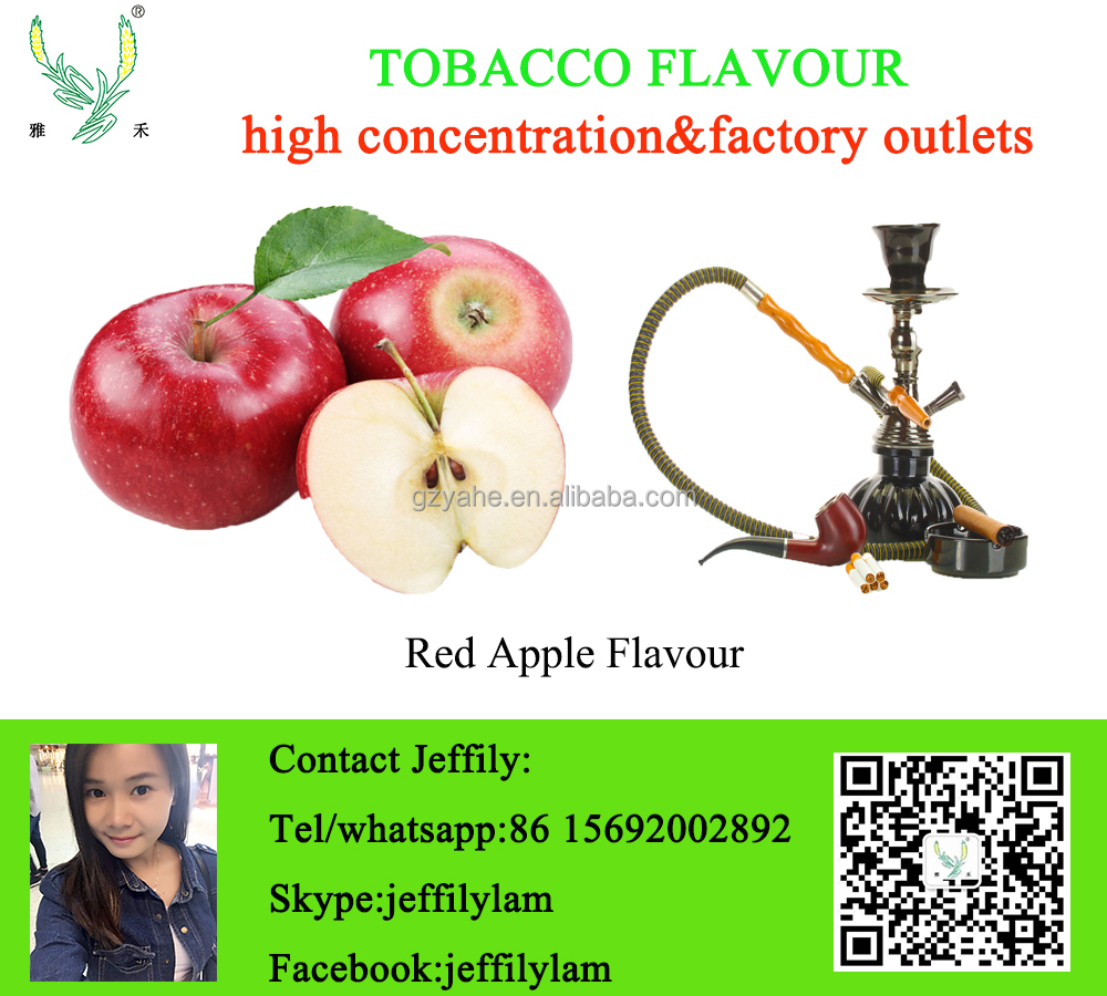 Good smell red apple flavour used for shisha making,high concentration sweet apple liquid flavour