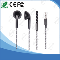 Advanced Styling Stereo Headphones Plastic Earbud Earphones with Braided Cable for Mobile Accessories