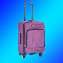 Retro washer wrinkle fabric trolley luggage, washing clothing travel suitcase,polyester oxford cloth soft spinner suit case set