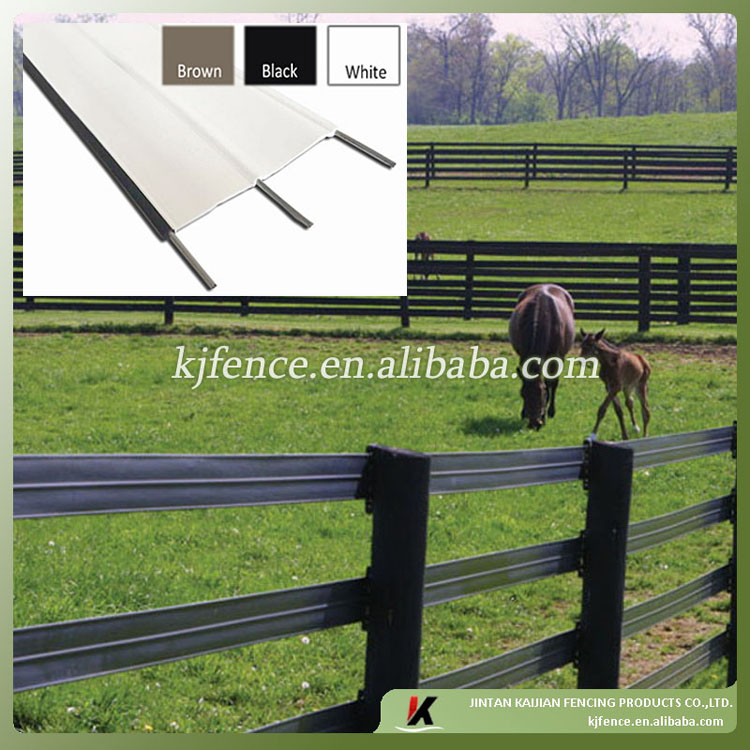Polytape electric flexible rail farm fence