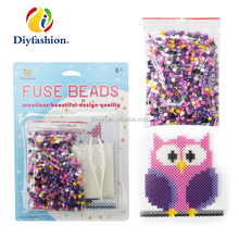 2017 Hot selling Owl DIY education plastic hama fuse beads toys