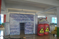 Outdoor inflatable airsoft bunker