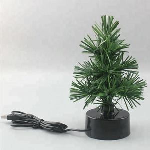 usb desk mini led green pvc fiber optic christmas tree - Mini Fiber Optic Christmas Tree