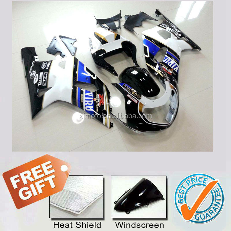 Motorcycle ABS fairings kit for GSXR750 GSXR600 GSX-R750 GSX-R600 2001 2002 2003