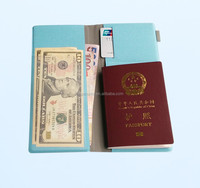 Fashional soft PU leather travel Passport Ticket Holder