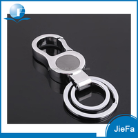 Wholesale manufature custom shaped zinc alloy metal key ring