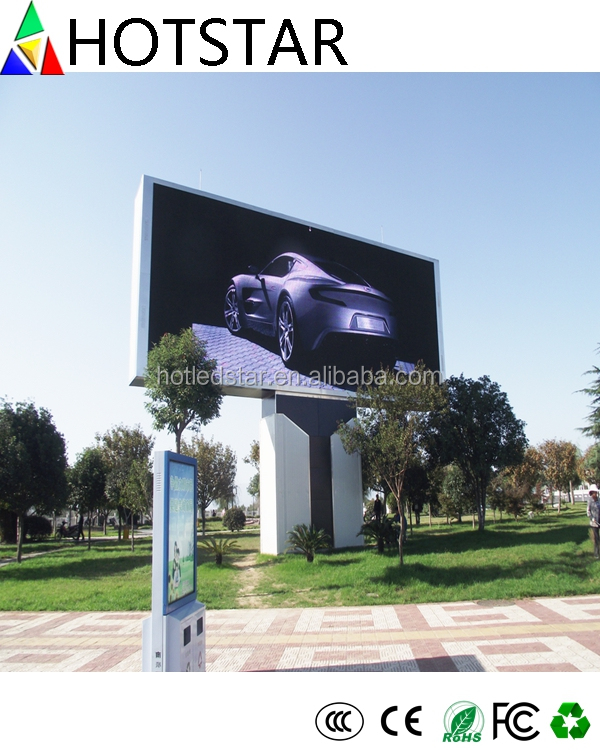 High Brightness Fixed Installation Cabinet P8 Outdoor SMD Advertising LED Display Screen