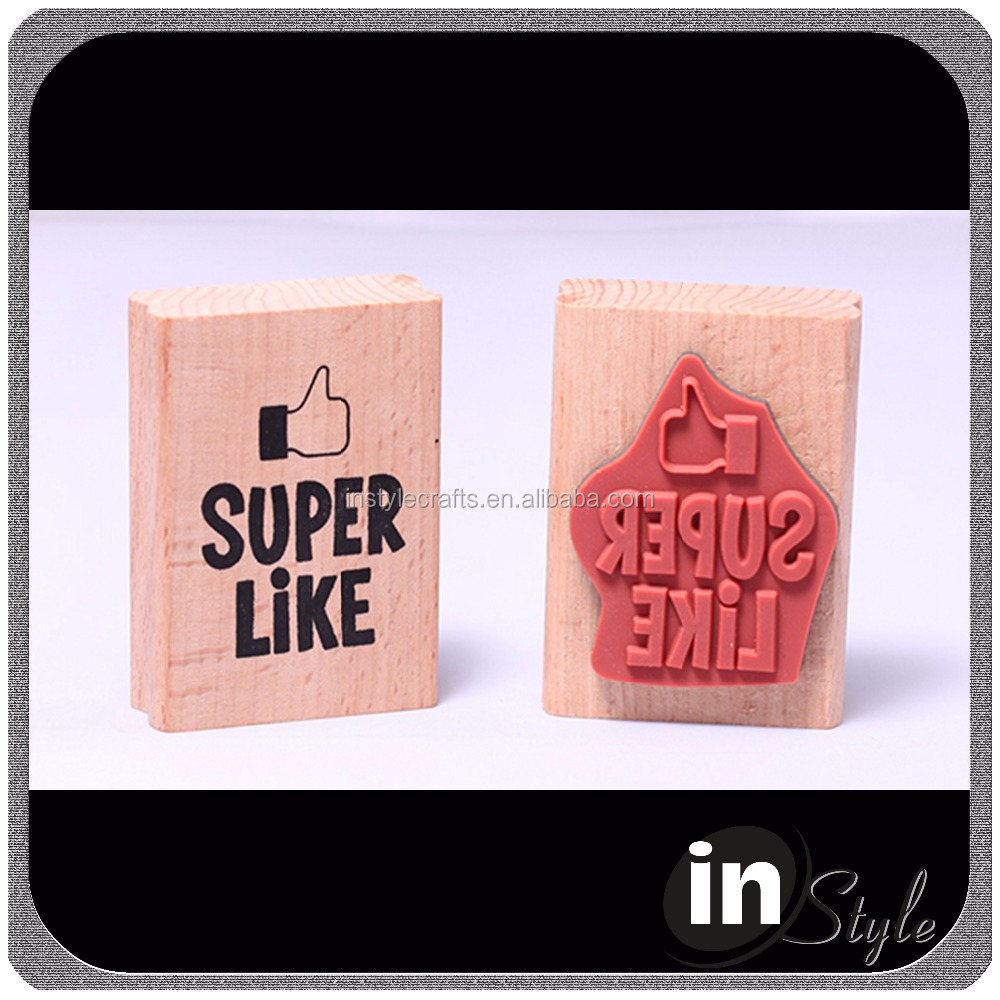 Popular self inking kids stamp/Self ink wooden kids stamp kids toy stamps for cheap sale