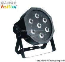 2015 7x8W RGBW DMX Stage Lights Business Lights Led Flat Par High Power Light with Professional for Party KTV Disco DJ