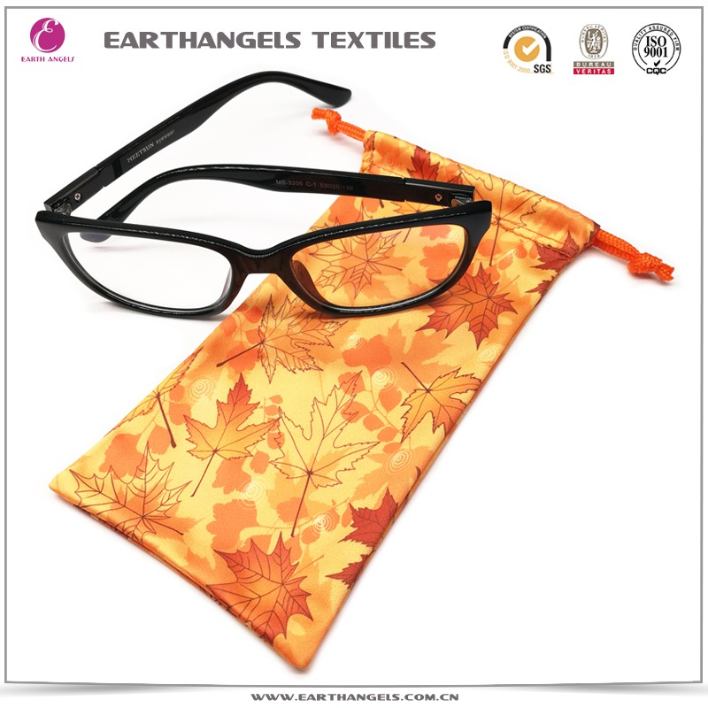 Custom Full Color Printed Microfiber Glasses Pouch/Bag With Logo