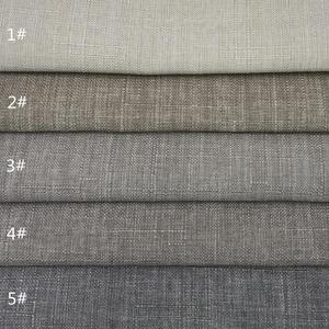 High quality colorful textile solid pure 100% linen fabric wholesale