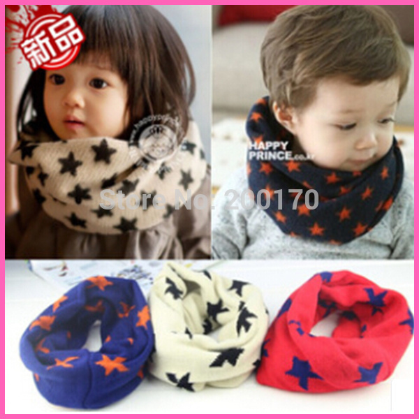 Hot New Warm Winter Wool Children Kids Boys Snood <strong>Scarf</strong> Neckerchief <strong>Scarves</strong> 3 Color Hot