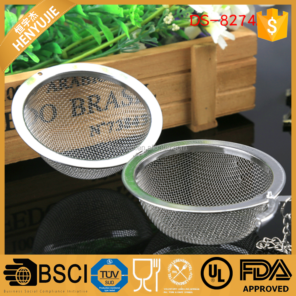 New Tea Infuser Stainless Steel Tea Pot Infuser Sphere Mesh DS-274A04