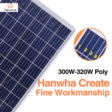 Hanwha polycrystal 300 305 310 315 320 watt solar panel in Grade A