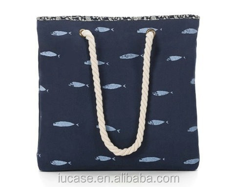 high quality canvas pool tote beach bag for ladies